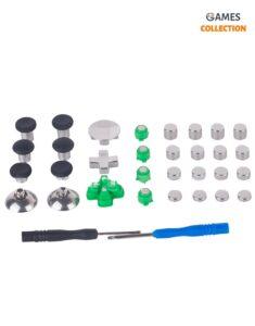 Набор металлических кнопок с черной сумкой для Джойстика PS4