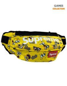 Сумка-бананка Supreme Губка Боб (Желтая)