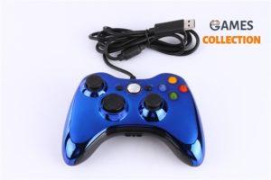 Синий Джойстик XBOX 360/PC