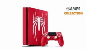 PS4 Slim 1 TB Spiderman + Джойстик + Игра Marvel: Spider-Man