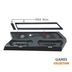 Многофункциональное зарядное устройство + кронштейн (PS4)