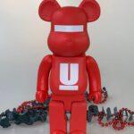 Bearbrick x MEDICOM UNDERCOVER LOGO 400% Red