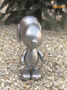 KAWS X Peanuts Snoopy Joe Kaws Vinyl Sculpture Silver