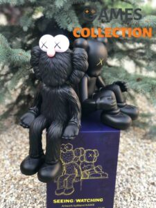 BRAND NEW Kaws KAWSONE BFF Seeing _ Watching Limited Edition Black