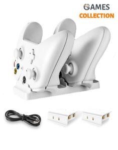Зарядная Док-станция с 2 Перезаряжаемыми Батареями XBOX ONE / S / X (Белая)