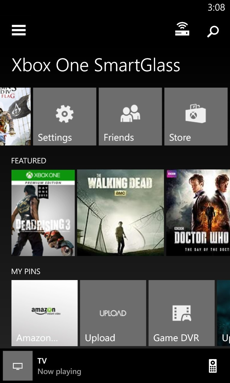XBOX ONE homescreen приложения