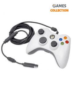 Джойстик (проводной) Xbox 360 (Белый)
