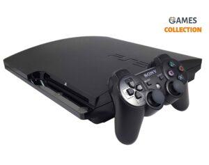 PS3 Slim Б.У 500 Gb + 20 игр + 2 джойстика