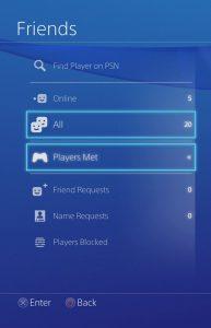 Playstation 4 список друзей