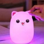 Bud Bear Silicone Lamp: Котик Розовые ушки (Светильник)