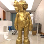 Kaws Flayed Companion Open Edition 130 см Золотой