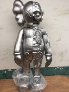 Kaws Flayed Companion Open Edition 130 см Silver