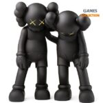 KAWS Along The Way Vinyl Figure Black 28см