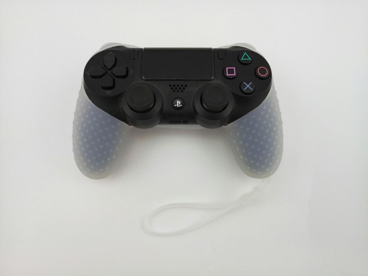 Силиконовый чехол для джойстика PS4 с ремешком(прозрачный)