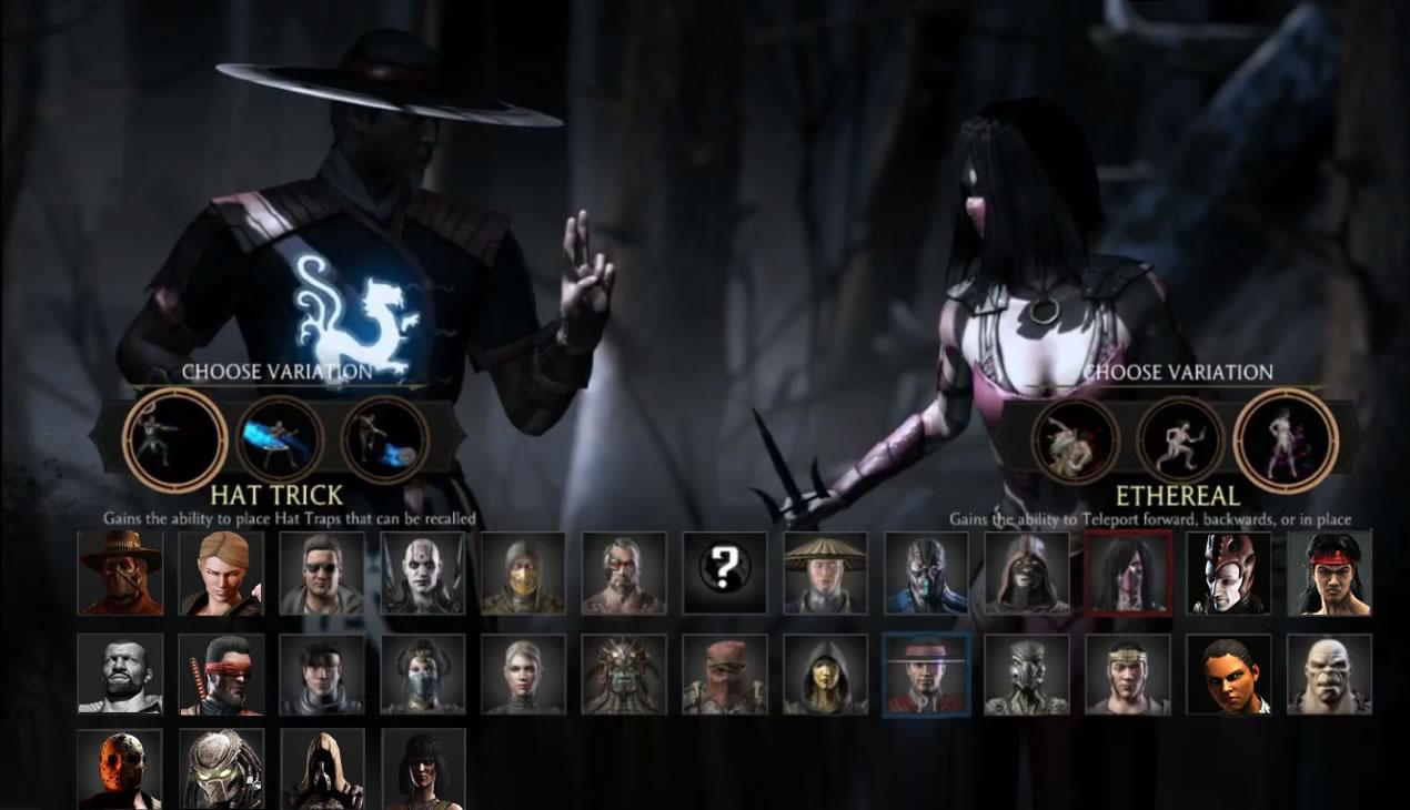 Mortal Combat XL: персонажи