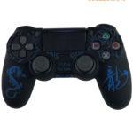 Чехол черный с синим драконом (PS4)