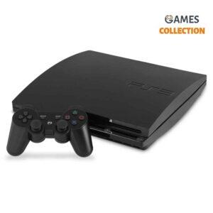 PS3 Slim Б.У 250 Gb + 10 игр + 2 джойстика