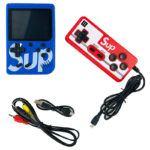 Консоль SUP GAME BOX Синяя 400 игр + джойстик для 2х игроков на ТВ