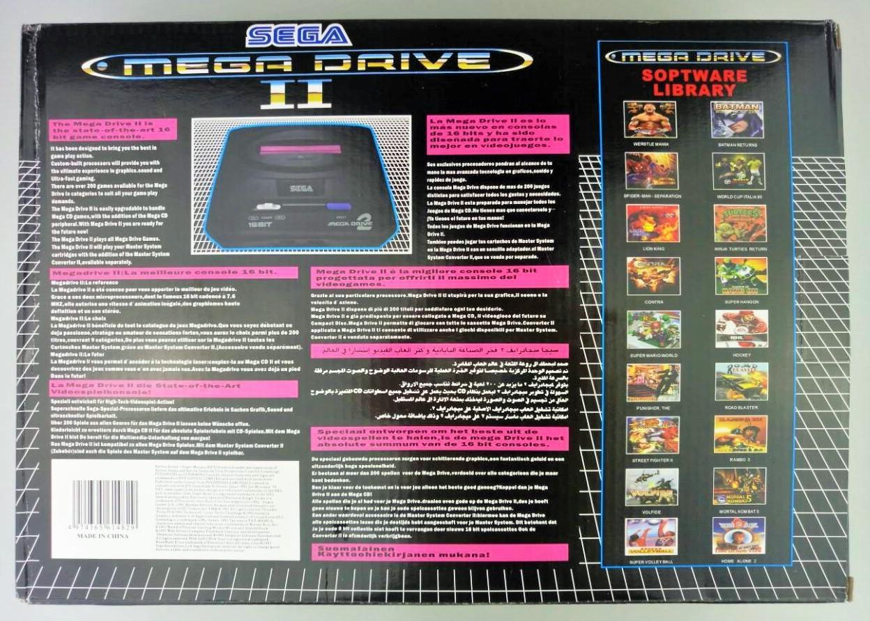 Игровая приставка Sega Mega Drive 2 + игры