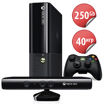 X-Box E 250Gb (LT + 3.0 + FREEBOOT + 40 игр на HDD) + KINECT-thumb