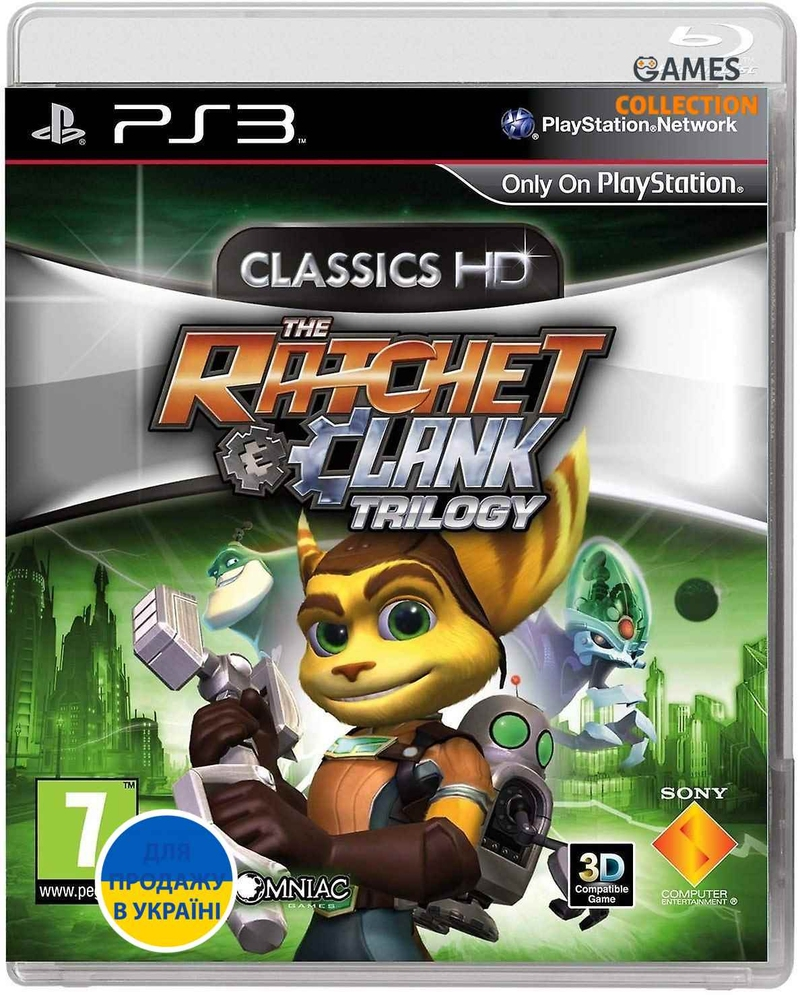 The Ratchet & Clank Trilogy: Classics HD (PS3) Б/У-thumb