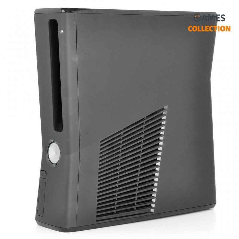 Xbox 360 Slim корпус (матовый) Black в сборе-thumb
