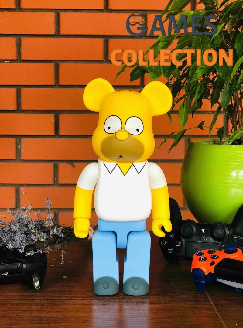 Bearbrick Homer Simpson 400% (28 см) Yellow-thumb