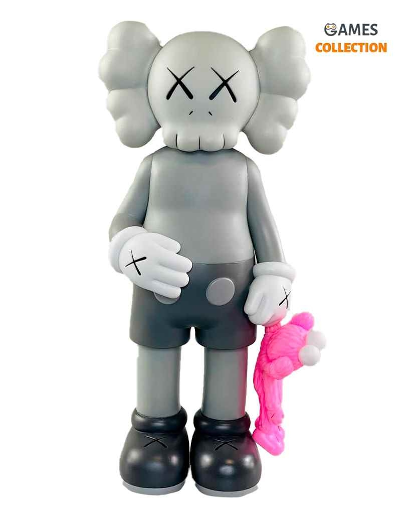 KAWS SHARE COMPANION Grey/Pink (31см)-thumb