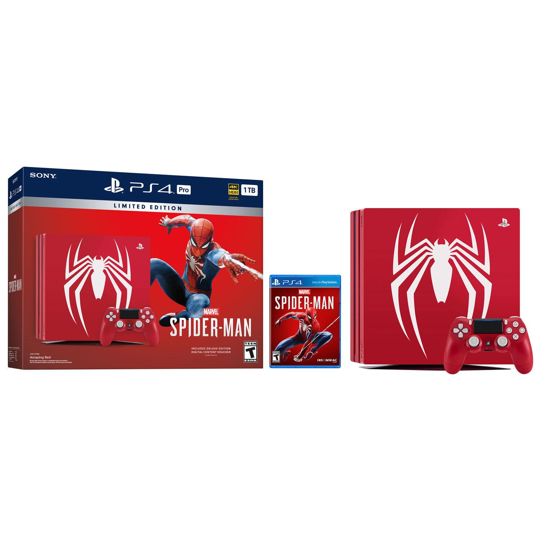 Marvel's Spider-Man PlayStation 4 Pro 1TB Bundle (Limited Edition)-thumb