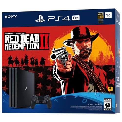 PlayStation 4 Slim 1TB Red Dead Redemption 2 Bundle-thumb
