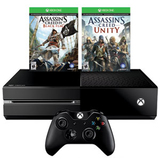 Xbox One Киев +Assassin`s Creed Unity +Black Flag гарантия 12 месяцев-thumb