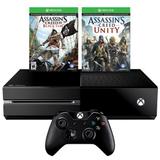 Xbox One Киев +Assassin`s Creed Unity +Black Flag гарантия 12 месяцев-thumb