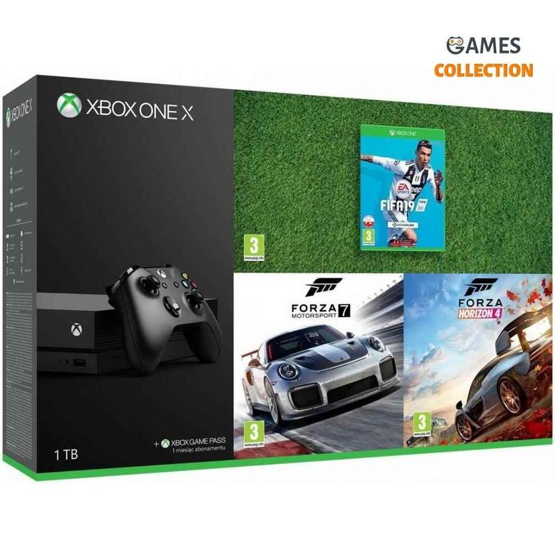Xbox One X 1TB Forza Horizon 4 + Forza Motorsport 7 + FIFA2019 Bundle-thumb