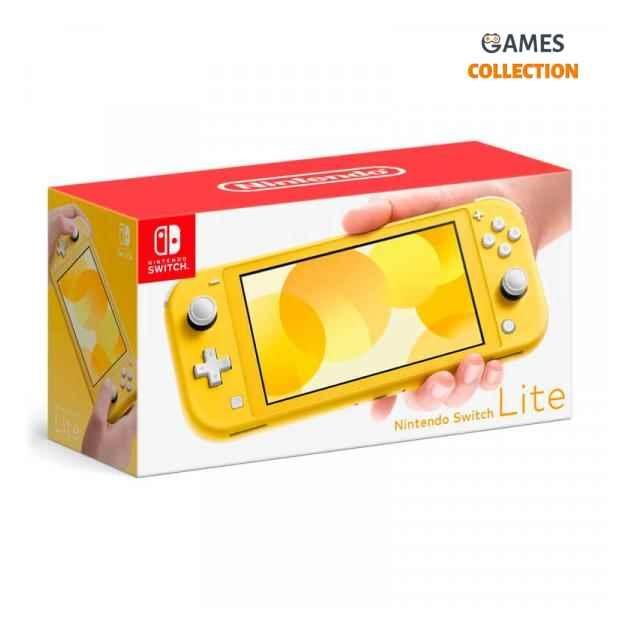 Nintendo Switch Lite Grey/Yellow+Micro SD 256GB (Прошита SX Core + 40 игр)-thumb