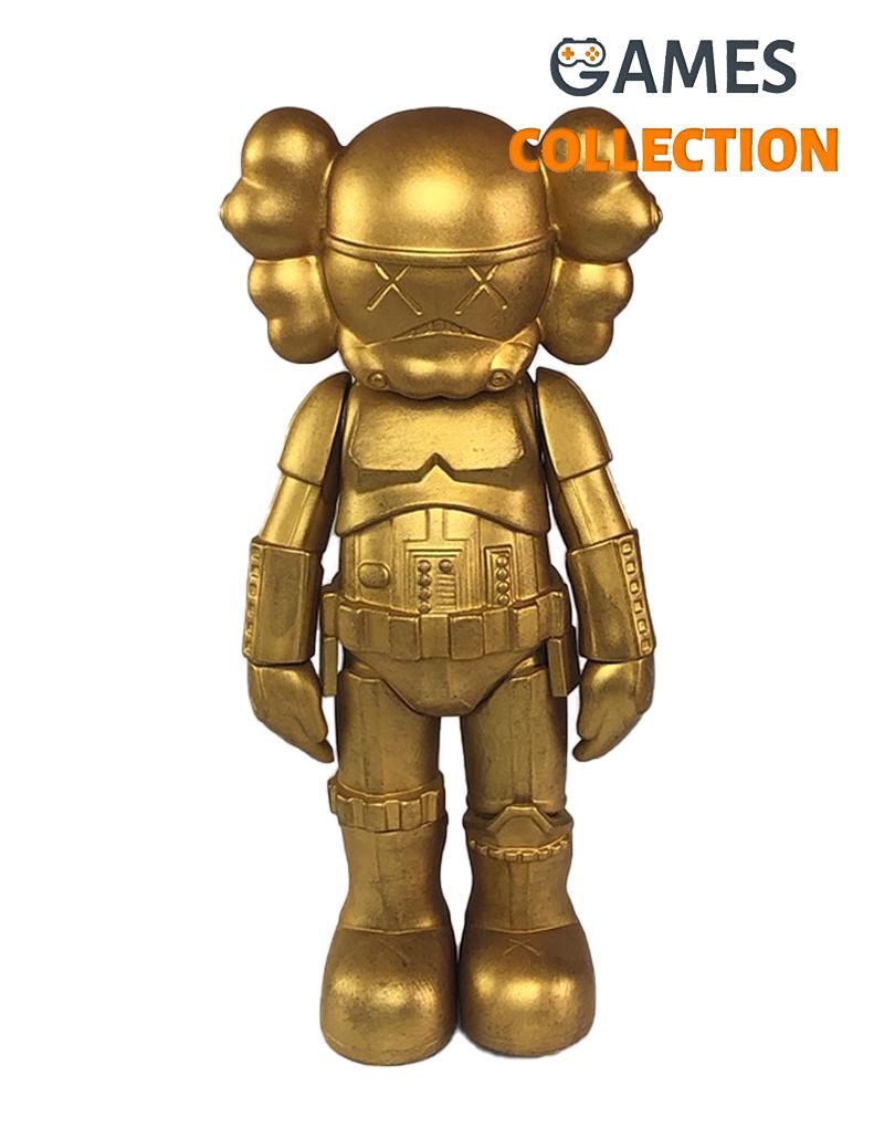 KAWS Star Wars Storm Trooper Companion gold 25см-thumb