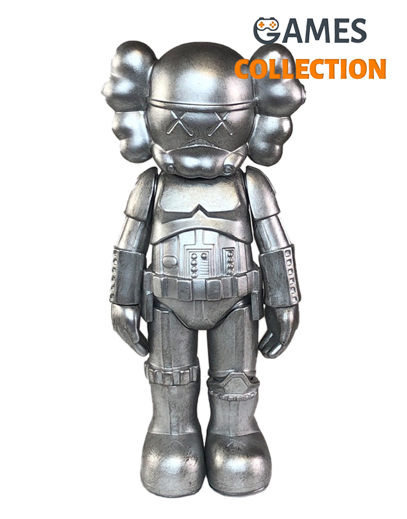 KAWS Star Wars Storm Trooper Companion silver 25см-thumb
