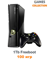 Xbox 360 Slim/E 1 TB Freeboot 100 Игр-thumb