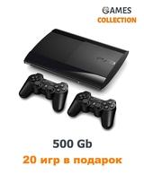PS3 Super SLIM Б.У 500 GB + 20 ИГР + 2 ДЖОЙСТИКА-thumb
