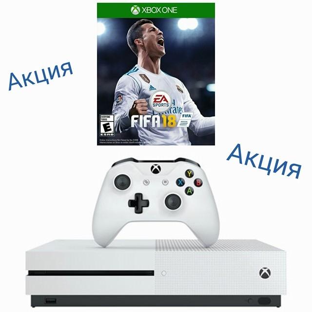 Xbox One S 500GB White + FIFA18-thumb