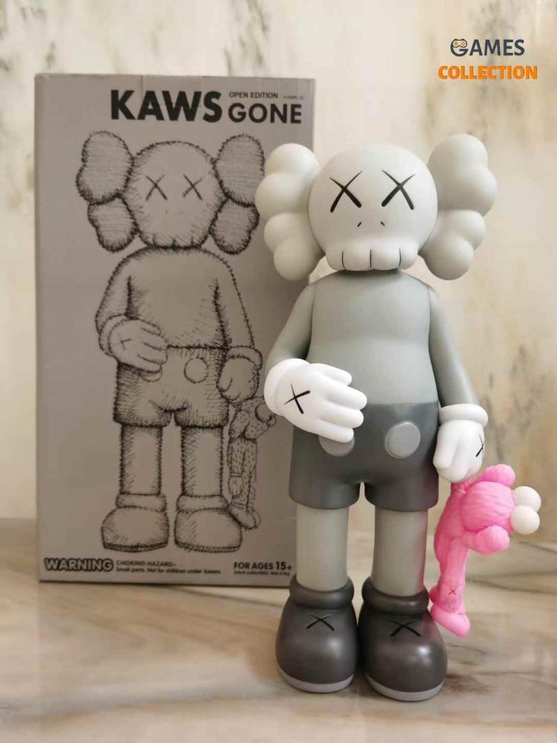 KAWS Share Vinyl Figure Grey-thumb