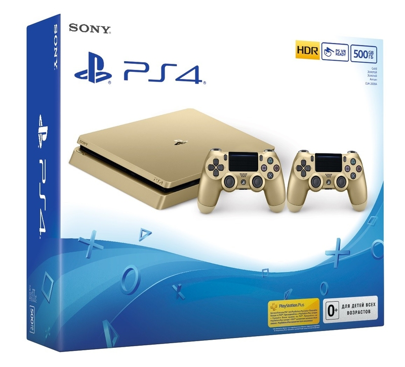 Sony PS4 Slim 500Gb Gold + DS4 Gold-thumb