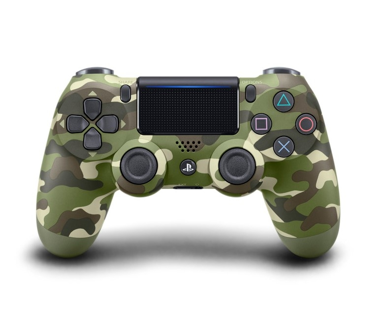 DualShock 4  V2 Green Camouflage (PS4)-thumb