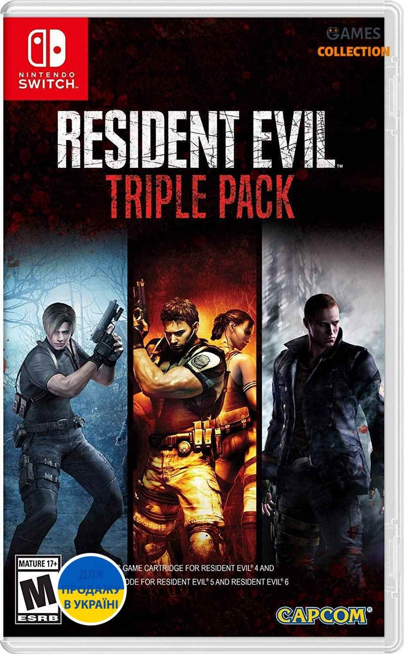 Resident Evil Triple Pack (Switch) (RE 4-5-6)-thumb