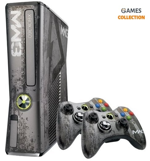 Xbox 360 Slim 320GB Limited Edition Call of Duty MW3 + 2 джойстика (Freeboot) + 40 игр-thumb