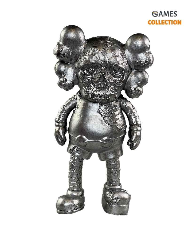 KAWS X PUSHEAD COMPANION Silver (25см)-thumb