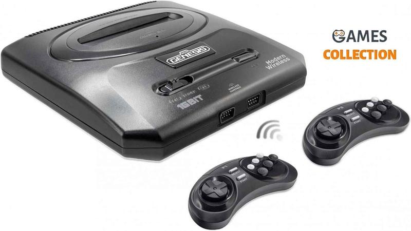 Игровая консоль Retro Genesis 16 bit Modern Wireless (170 игр, 2 беспроводных джойстика)-thumb
