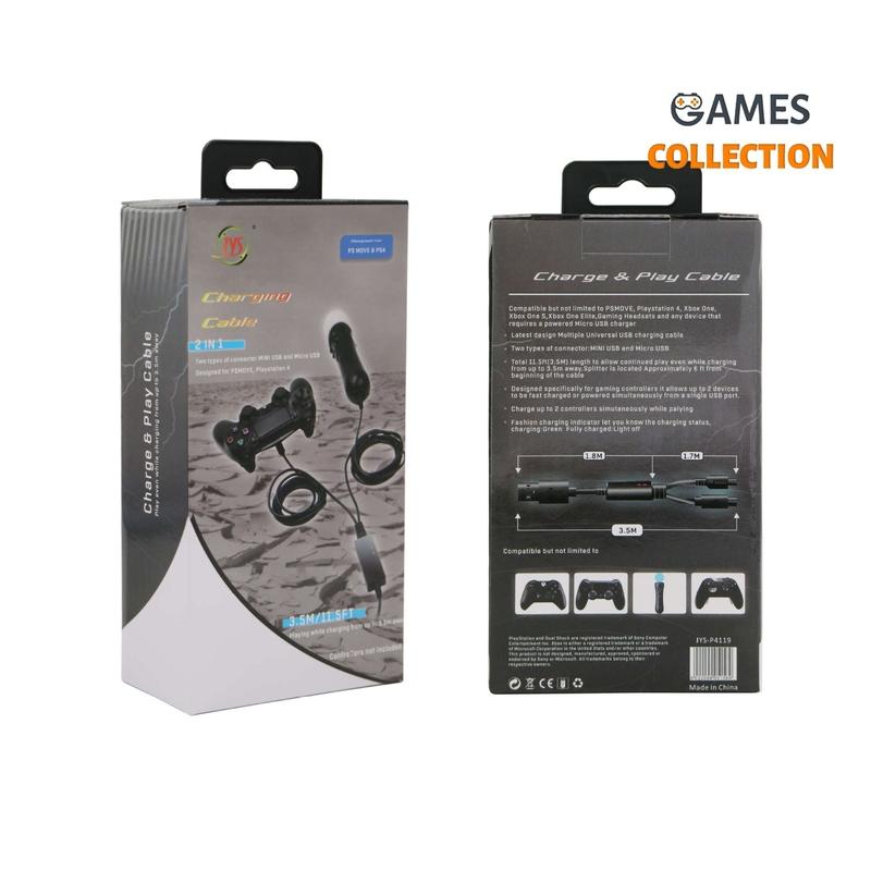 Кабель зарядки для 2 устройств PS4 3.5M-thumb