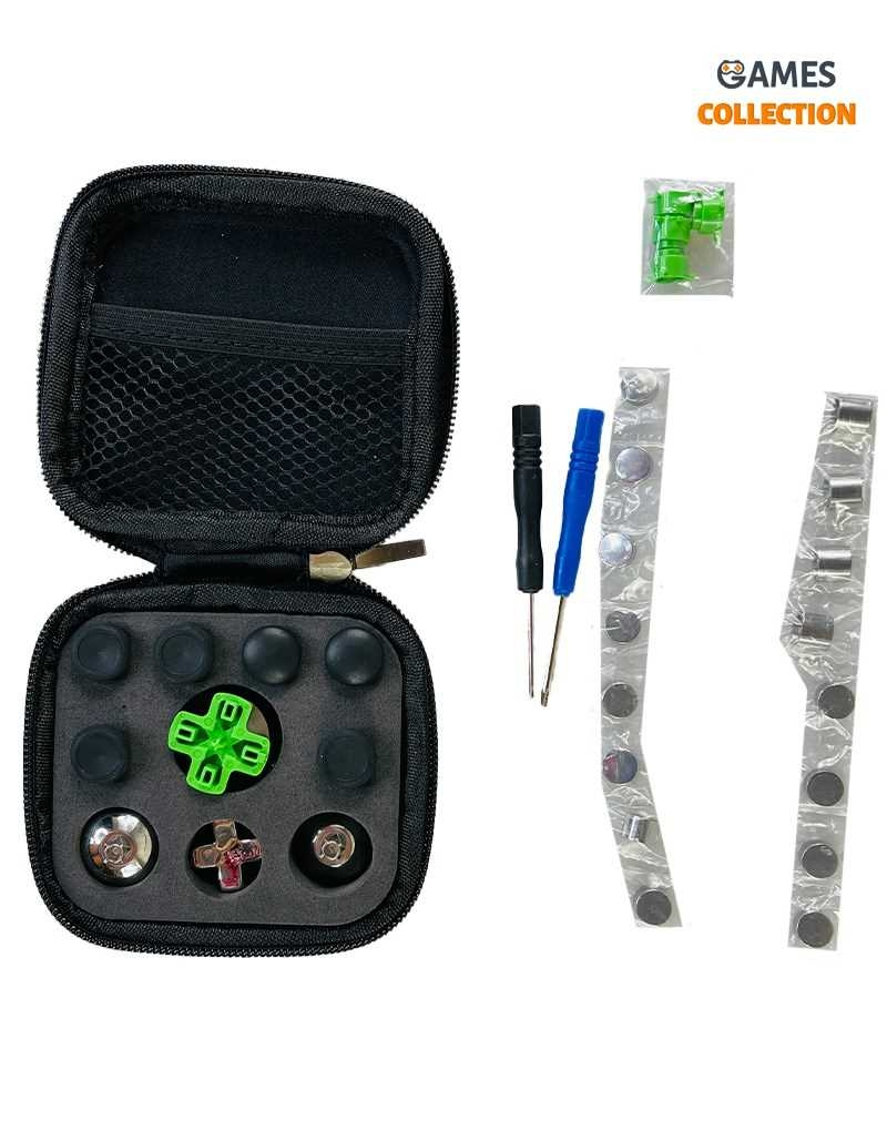 Набор металлических кнопок с черной сумкой для Джойстика PS4-thumb