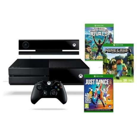 Microsoft Xbox ONE 1TB+Kinect+Kinect Sport Rivals+Minecraft+Just Dance2017-thumb