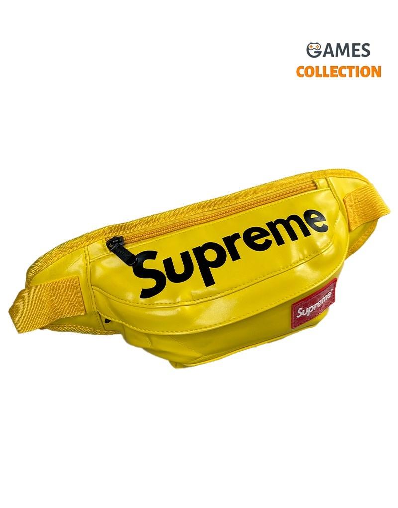Сумка-бананка Supreme Эко-кожа (Желтая)-thumb